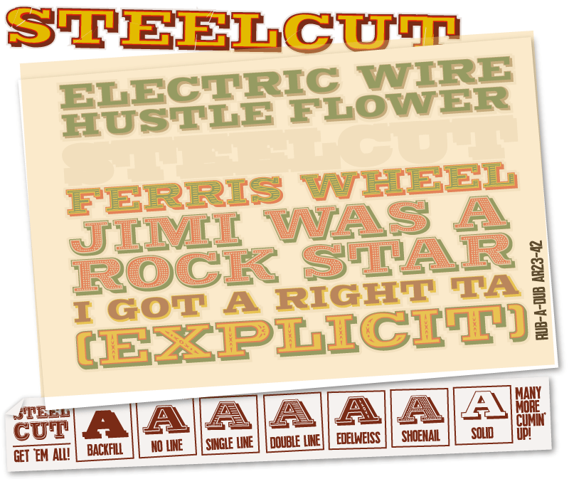 steelcut font preview